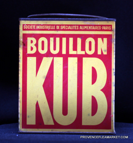 French vintage advertising Kub tin 1-0