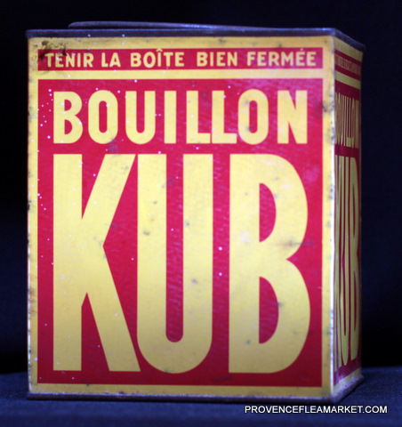 French vintage advertising Kub tin 1-1