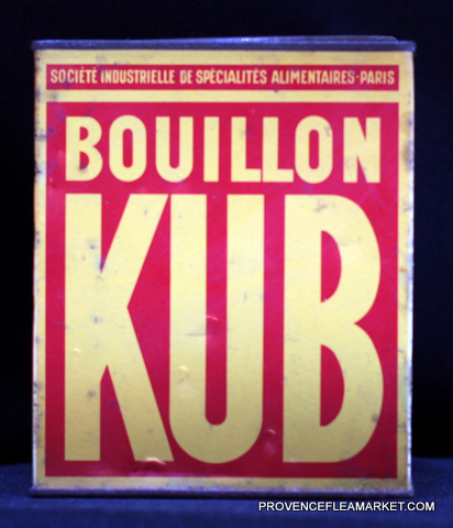 French vintage advertising Kub tin 1-2