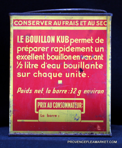 French vintage advertising Kub tin 1-3