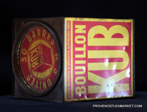 French vintage advertising Kub tin 1-5