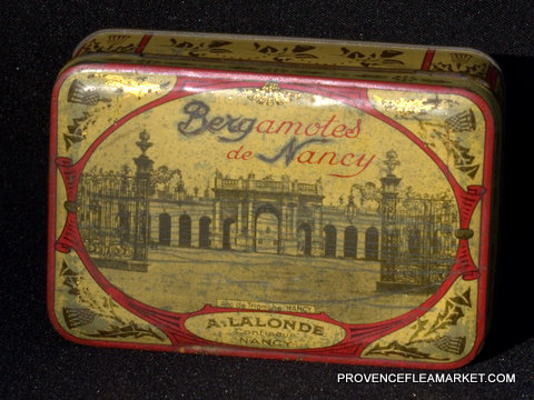 French vintage sweet  BERGAMOTES DE NANCY tin-0