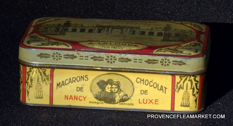 French vintage sweet  BERGAMOTES DE NANCY tin-1