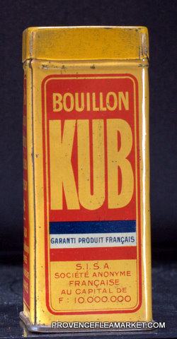 French vintage tin  bouillon KUB canister-0