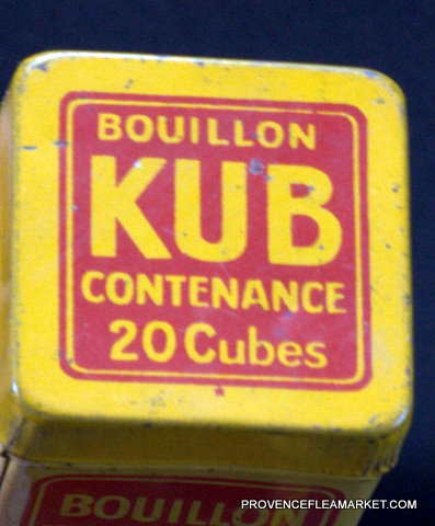 French vintage tin  bouillon KUB canister-3