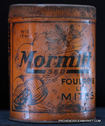 French vintage tin  killing product-0