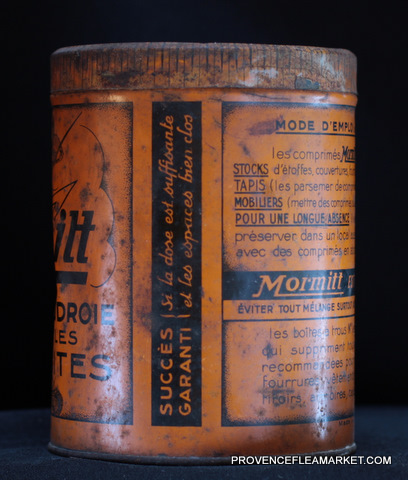French vintage tin  killing product-1