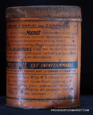 French vintage tin  killing product-5