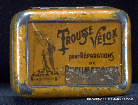 French vintage tin