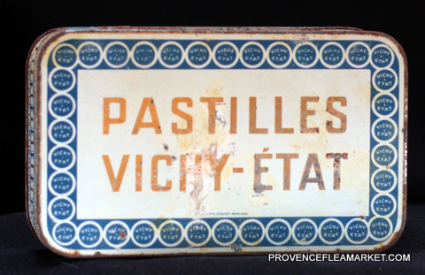 French vintage tin Vichy Etat 1940 box-0