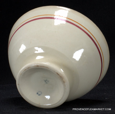 French vintage red trim bowl cafe au lait-4