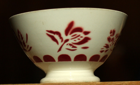 Red floral bowl-1