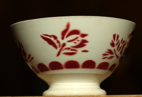 Red floral bowl-3