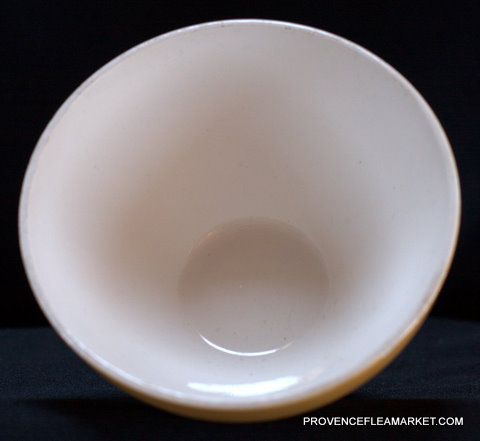 French vintage Digoin yellow bowl cafe au lait-3