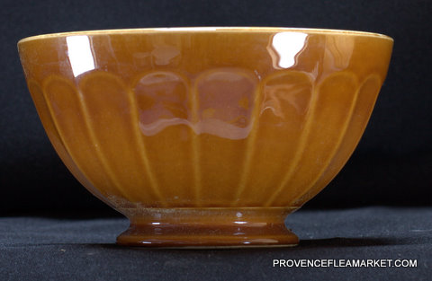 French vintage yellow brown bowl cafe au lait 1-1