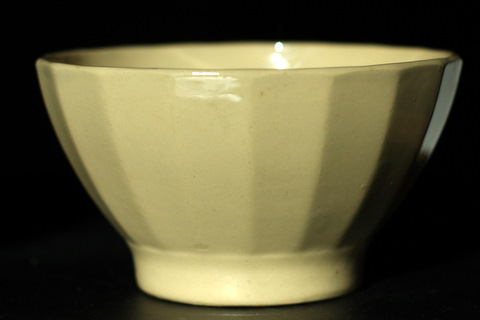 Yellow vintage bowl cafe au lait-1