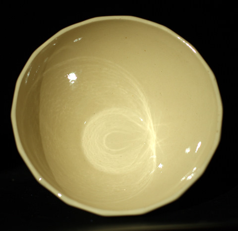 Yellow vintage bowl cafe au lait-3