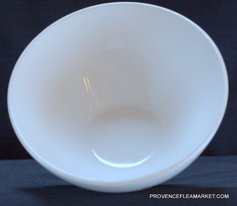 Big French floral Sarreguemines vintage bowl cafe au lait-4