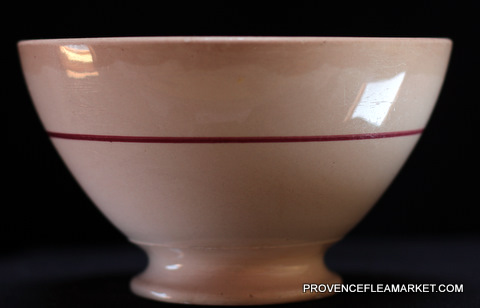 Big French vintage Digoin bowl cafe au lait-1