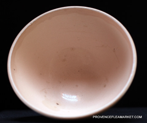 Big French vintage Digoin bowl cafe au lait-3