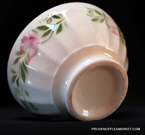 French floral soap vintage bowl cafe au lait-3