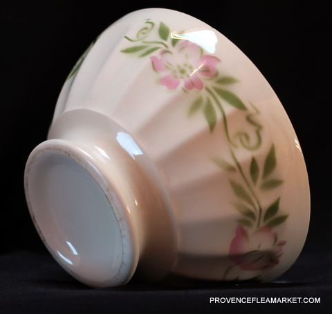 French floral soap vintage bowl cafe au lait-4