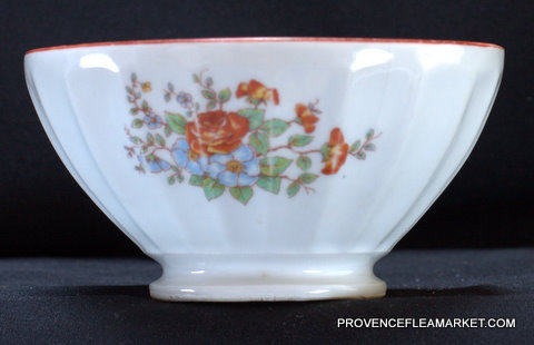 French floral vintage bowl cafe au lait-2