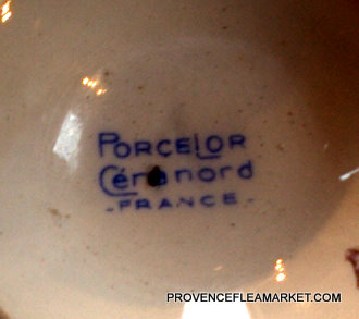 French vintage rose garland bowl cafe au lait-4