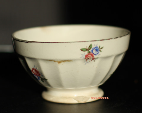 Little floral digoin bowl cafe au lait-5