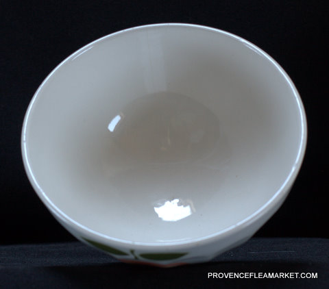 French vintage apple bowl cafe au lait-5