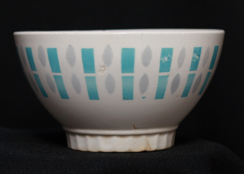 Badonviller geometrical bowl cafe au lait grey and blue-0