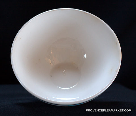 French Basque pattern Digoin bowl cafe au lait-3