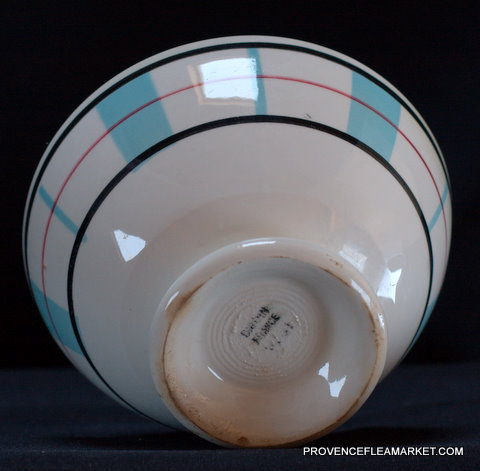 French Basque pattern Digoin bowl cafe au lait-4