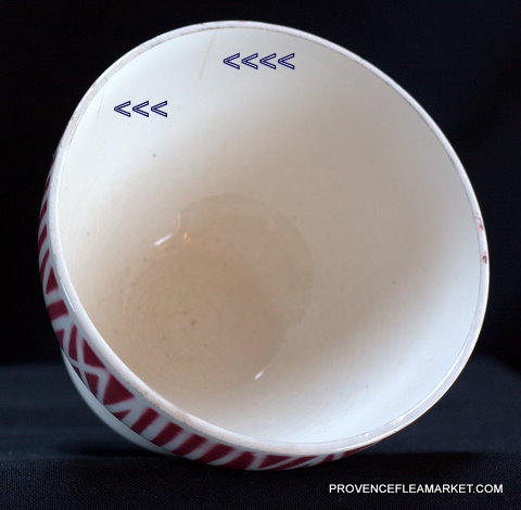 French Digoin Veronique Pattern vintage bowl cafe au lait-3