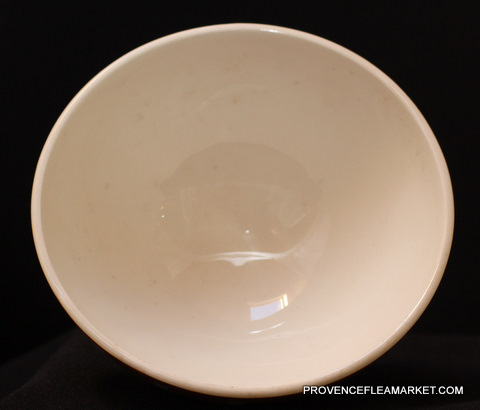 French vintage yellow orange bowl cafe au lait-3