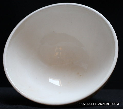 French vintageYellow geometrical Digoin bowl cafe au lait 9611 -3