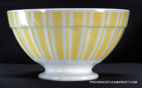 French yellow vintage Digoin bowl cafe au lait 9611-0
