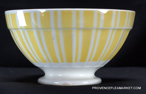 French yellow vintage Digoin bowl cafe au lait 9611-1