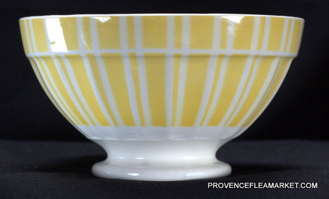 French yellow vintage Digoin bowl cafe au lait 9611-2