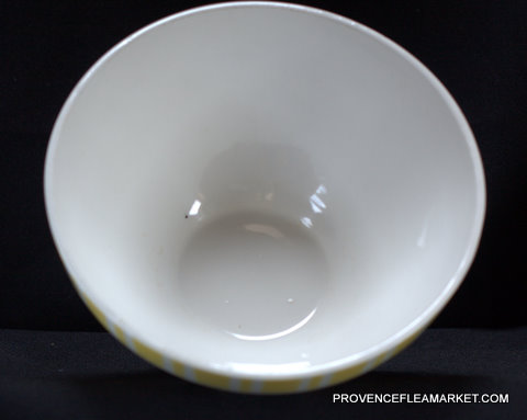 French yellow vintage Digoin bowl cafe au lait 9611-4
