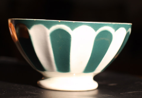 Green Sarreguemine bowl cafe au lait-1