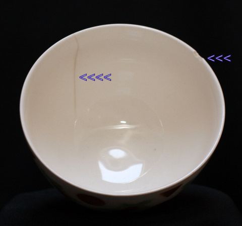 Special pattern bowl cafe au lait-3