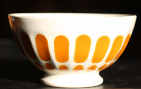 Yellow  Sarreguemine bowl cafe au lait-1