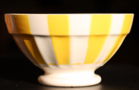 Yellow geometrical Digoin bowl 9591-0