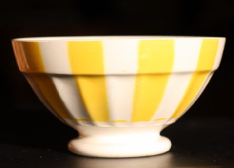Yellow geometrical Digoin bowl 9591-2