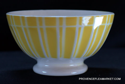 Yellow geometrical Digoin bowl cafe au lait 9611 1-0