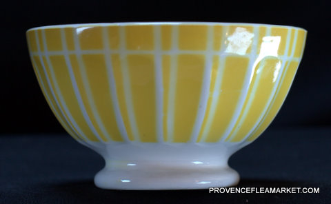 Yellow geometrical Digoin bowl cafe au lait 9611 1-1