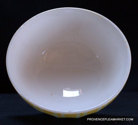 Yellow geometrical Digoin bowl cafe au lait 9611 1-3