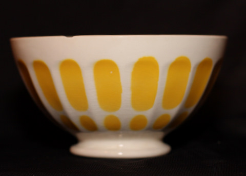 yellow Digoin bowl cafe au lait-0