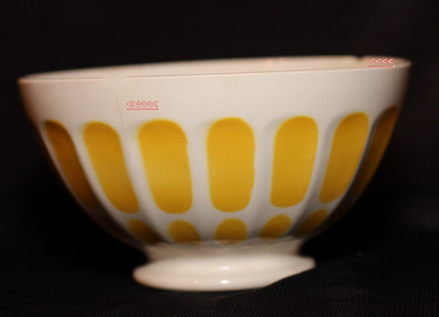 yellow Digoin bowl cafe au lait-2